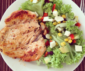 Chicken, eat, and fitness image