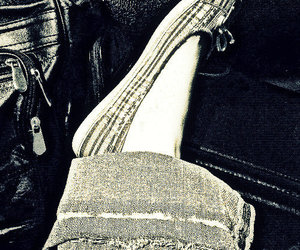 cross process, flats, and jeans image