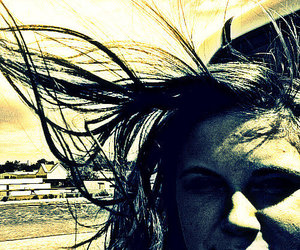 cross process, hair, and wind image