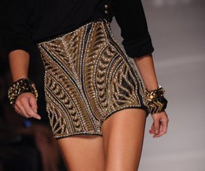 fashion, shorts, and gold image