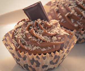 chocolate, cupcake, and love image