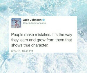 grow, jack johnson, and mistakes image