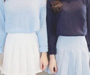 kfashion, blue, and fashion image