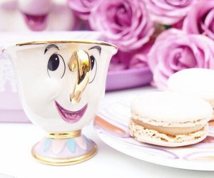 disney, beauty and the beast, and cup image