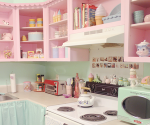 kitchen, pastel, and kawaii image