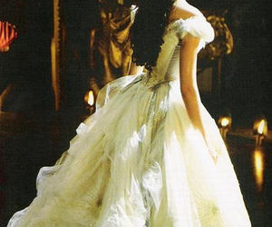 dress, hair, and gown image