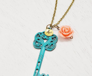 personalized necklace, initial necklace, and best friend image