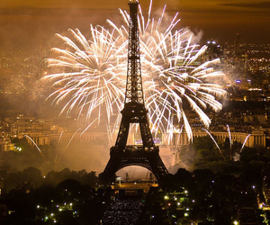 fireworks, paris, and beautiful image