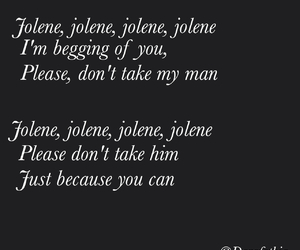 dolly parton, jolene, and Lyrics image