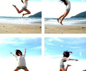 beach, Island, and jump image