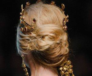 crown, hair, and gold image