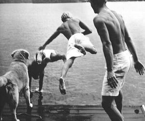 boy, dog, and summer image