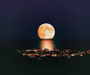 moon, night, and city image