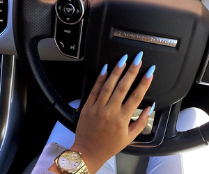 nails, car, and blue image