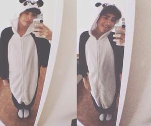 boy, manu, and panda image
