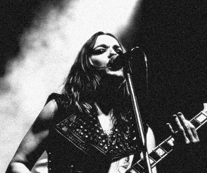 black and white, singer, and hard rock image