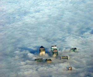clouds, london, and city image