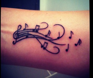 music and tattoo image