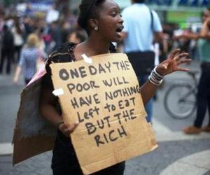 poor, rich, and eat image