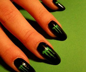 black, green, and nails image