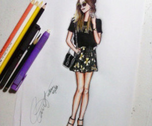 drawing, fashion, and fashion coolture image