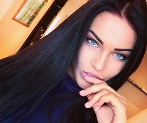 beautiful, blue eyes, and girl image