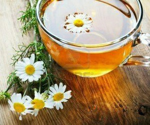 tea and flowers image