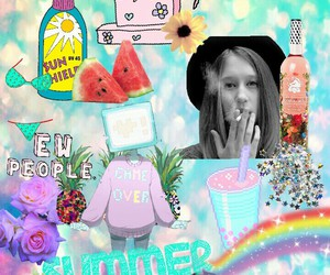 ash, Collage, and colorfull image