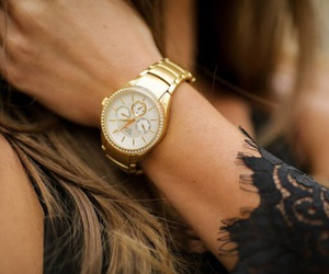 fashion, hair, and watch image