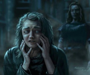 arya stark, house of black and white, and game of thrones image