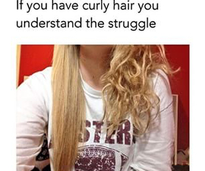 hair, curly, and struggle image