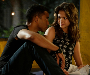 the fosters, maia mitchell, and couple image