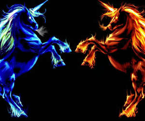 blue, cool, and fire image