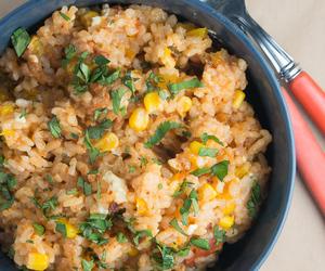 rice, spanish, and tomato image
