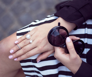 fashion, rings, and skirt image