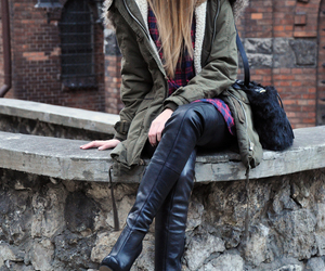 beanie, blonde, and boots image
