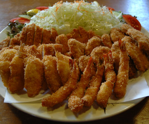 food, prawns, and meat image