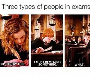 exam and harry potter image