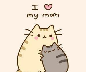 love, mom, and cat image