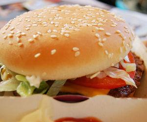 salad, tomato, and burger image