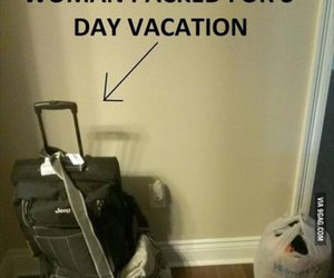 funny, woman, and vacation image