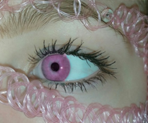 pink, eyes, and eye image