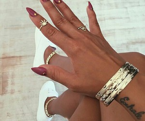 accessories, gold, and nails image