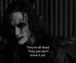 the crow, brandon lee, and black and white image
