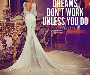 Dream, quote, and dress image