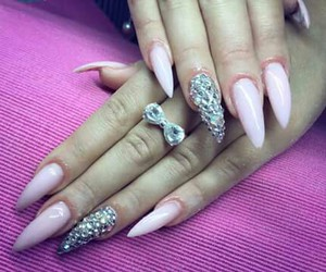 manicure, nails, and stiletto image