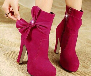 boots, fashion, and red image