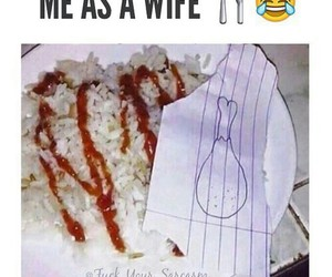 food, wife, and funny image