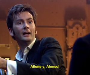 david tennant, allons-y, and doctor who image