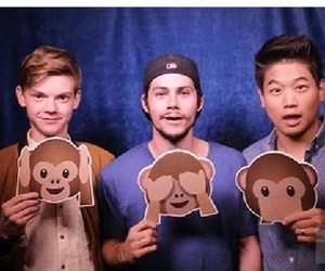 dylan o'brien, thomas sangster, and thomas image